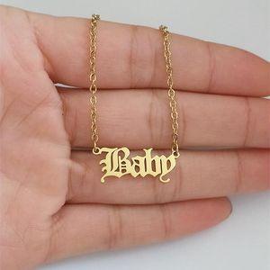Regalo de mayor 10pcs joyería encanto de la letra collar de la princesa del ángel Gargantilla acero inoxidable Declaración BFF niña del collar Mujer Niño