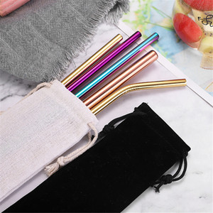 Wholesale Price Colorful Reusable Drinking Straw With Brush High Quality 304 Stainless Steel Metal Straw Fast Shipping Portable