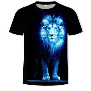 Sıcak kısa kollu clothin Tops Şık Yaz spor tasarlanan tişört hayvan Erkek / Bayan 3d t shirt dijital Print sale3d