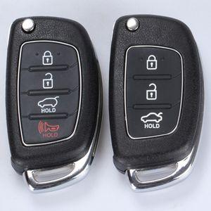 3/4 Botões Virar Folding remoto Key Fob Shell capa para HYUNDAI Mistra Santa Fe Sonata Tucson Accent I30 I40 I45