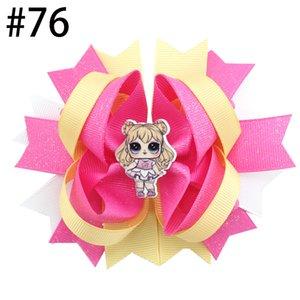 12pcs envío libre 4.5 '' inspirado pelo de muñeca arcos populares arcos chica cabello accesorios con clips chica clips Hair Boutique