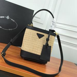Сумки Кошельки сумки на ремне, соломы Ковш авоську письмо Кожа Классический Кожа натуральная кожа сумка муфту-