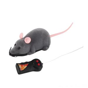 무선 전기 RC 쥐 (rat) 생쥐 (mouse)이 모드는 장난감 어린이 생일 고양이 재생 원격 제어 애완 동물 놀이 마우스 장난감 고양이 새끼 고양이 애완 동물 supplie은 소모품