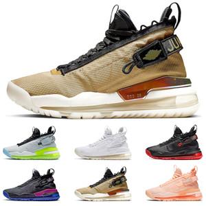 JORDAN PROTO-MAX 720 jumpman Homens tênis de basquete Gym Red Gradient Neon Pure Platinum roxo e Royal Gold e tênis preto tamanho 40-46