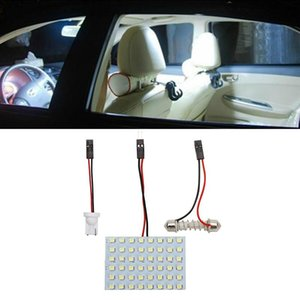 12 36 48 Led Panel Super White Car Reading Lamp 1210 Smd Auto Dome Interior Bulb Roof Light With T10 Adapter Festoon Base