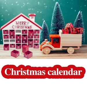 25 Çekmeceler Çocuk Şeker Hediye Saklama Kutusu Noel Takvim Noel Dekorasyon Ahşap Lockscreen Takvim