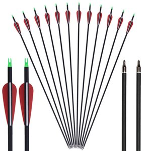 Hunting and Shooting Supplies Rubber Feather Carbon Arrow International Standard Recurve Straight Pull General Bow and Arrow