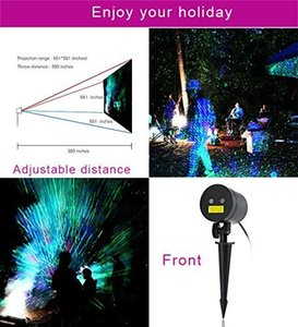 Yıldızlı Lazer ışıkları Peyzaj Projektör ışıkları açık su geçirmez Lazer lamba için açık Bahçe / Yard / duvar Aile toplama Parti