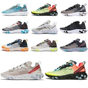 nike epic react element 87 antracite Royal Tint Sky blue run shoe per runner mens womens Neptune Green Mist fashion brand sneaker leggermente confortevole