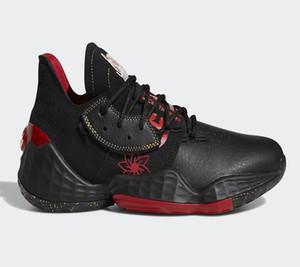 Zapatos Año Nuevo chino James Harden Vol.4 baloncesto de los hombres con la caja de zapatos Mejor Harden 4 GCA CNY Negro Oro Rojo Deporte