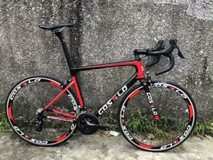 2020 Costelo speedmachine 3,0 yolun bisiklet karbon bisiklet tam bisiklet 40mm tekerlekler 3500 grup bici ucuz bisiklet kök Gidon