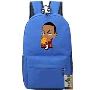 على ظهره فلاش Dwyane واد daypack كرة السلة نجم المدرسية الكرتون حقيبة الظهر الرياضة حقيبة مدرسية في الهواء الطلق حزمة اليوم