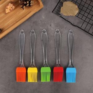Escova óleo de silicone Baking Escova churrasco Handle Transparente DIY Cozinhar Ferramentas Silicone Escovas para barware T2I5733-1