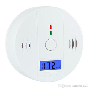 DHL Free CO Carbon Monoxide Gas Sensor Monitor Alarm Poisoning Detector Tester For Home Security Surveillance Without Battery