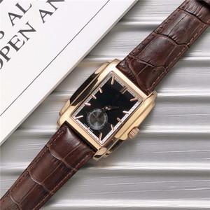 Resmi lüks erkek saatler GONDOLO 5124G-011 serisi otomatik İzle gerçek hakiki deri safir cam mekanik kol saati 34 * 43mm