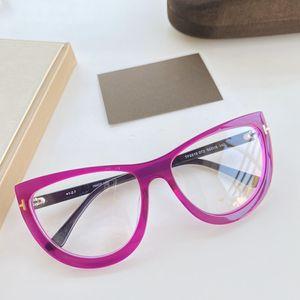 2020 NUEVOS diseñados TF5519 vidrios de las mujeres atractivas del marco del tablón Bigrim Cateye 55-16-140 para los vidrios de la miopía de la prescripción con el caso Set completo