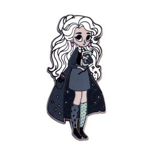 Luna Lovegood esmalte duro pin Hogwarts broche mágico bruja libro insignia insignia accesorio geek