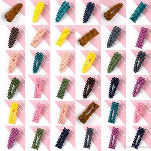 Clip 20Pcs delle ragazze delle donne New Hair metallo Snap Carino colore solido della caramella Accessori per capelli tornante bambini dolci BB Capelli Slides