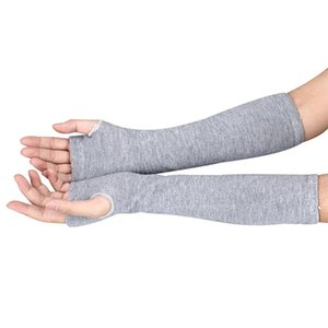 2017 Winter Women Fashion long Gloves With Knitted fashion Wrist Arm Hand Warmer Knitted Long Fingerless Gloves#LRE0