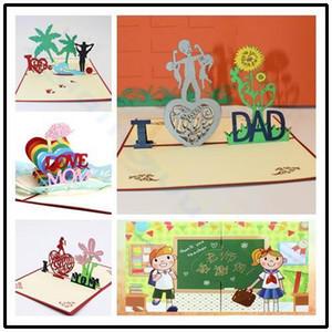 ayçiçeği babalar günü şükran 3d pop up kart karikatür tebrik kartı hediye kağıt kesme kağıt teşekkür kartı kartpostal
