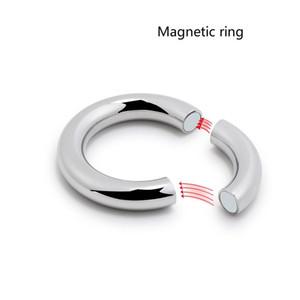 5 Größe für wählen Heavy Duty männlichen magnetischen Kugel Skrotum Stretcher Metall Penis Schwanz Ring Verzögerungsejakulation BDSM Sex Toy Männer