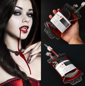 350мл Прозрачный Clear Медицинский материал ПВХ многоразовый крови Энергетический напиток мешок Halloween Vampire кровь мешок реквизита Бесплатная доставка
