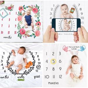 بطانية طفل الوليد قمط عربة الفراش التفاف خلفية الصور القماش نمو شهري عدد التصوير الدعائم