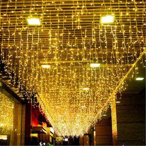 LED String soketi kaliteli by 4M Gümüş Tel Garland Ev Noel Düğün Dekorasyon Peri dize lamba yanar