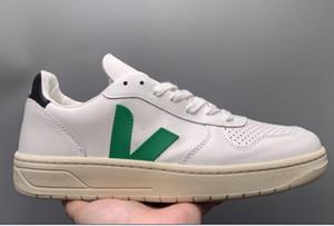 Comfortab superior al por mayor de moda VEJA ESPLAR zapatillas de deporte del cuero genuino de las vellosidades dermis calzados informales de lujo MensWomen xshfbcl Superstar Trainer