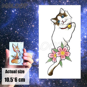 Tattoos Sticker Body Art red flower ink plant rose Little hand Water Transfer Temporary Fake tatto for kid girl boy