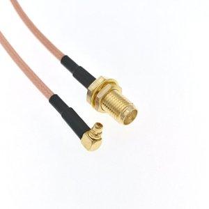 """50 adet Freeshipping MMCX Erkek Dik Açı için RP-SMA Kadın Jack RG316 Pigtail RF Adaptörü 20cm 8"""""""