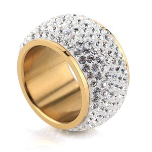 Wholesale-New Fashion Design Wholesale shining full rhinestone finger rings for woman luxurious paragraph fashion new antique gold-color