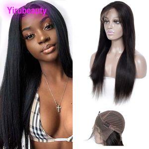 Brésilien Cheveux Vierge 13x4 Lace Front Wigs Silky droite Remy Lace Wig 10-32inch gratuit Partie 13 * 4 Perruques Couleur des cheveux naturels