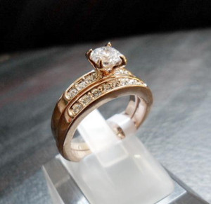 Jewelry Rings Swarovski Crystal 18 K gold-plated CZdiamond Rhinestone ring Beauty Lovers Ring Gift