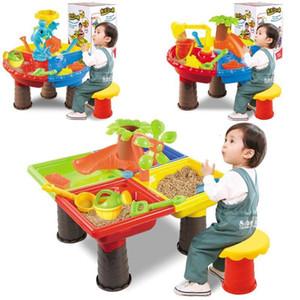 Tabla niños de arena al aire libre de agua Juego de Juego de juguetes no tóxicos regalos de la playa Arenero para niños vacaciones de verano Diversión Accesorios