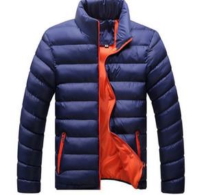 Designer Printemps Hiver Hommes Duck Down Jacket Ultra Léger Mince Plus La Taille Printemps Vestes Hommes Col Montant Manteau Manteau Couleur Unie taille M