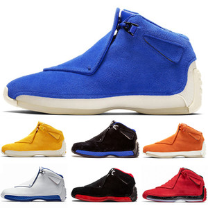 2019 nueva llegada 18s 18 XII Baloncesto zapatos de ante azul gris fresco Toro Negro Real Sport Royal zapatos de baloncesto de tamaño de las zapatillas de deporte 41-47