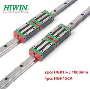 2pcs Nuovo originale HIWIN HGR15 - 1.800 millimetri lineare guida / guida + 4pcs HGH15CA lineare blocchi strette per cnc router parti