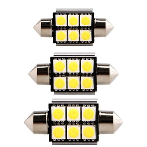 36mm 39mm 42mm 5050 6 SMD LED C5W Festoon Dome Canbus Error Free Car Interior Door Map Bulbs DC 12V White