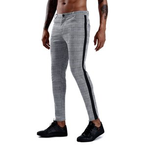 New Jogging Pants Men Striped Sport Workout Sweatpants Casual Gym Training Pants Mens Fitness Leggings Joggers Running Trousers T200612