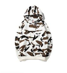 Yeni En iyi kalite süt rengi kutusu klasik Hoodie Erkekler Pamuk Moda Streetwear Womens Hoodies hoodies