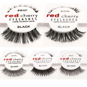 Red Cherry 100% handgemachte Haarwimpern WSP Lashes handgemachte falsche Wimpern Messy Natur Eye Lashes 12 Styles 12 Paare / Satz
