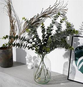 Artificial Plants Soft Plastic Eucalyptus Green Plants branch Home Decor Fake Plant Leaves Wedding Decoration Simulation Bonsai DA262
