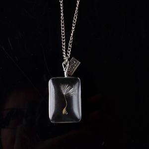 Одуванчик Белый Кристалл Кулон Слеза Женская Мода Роскошный Дизайнер Ювелирных Изделий