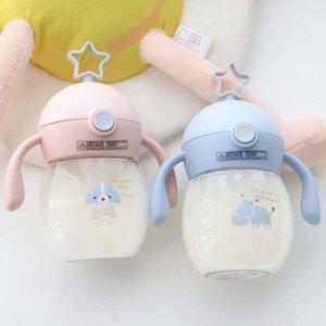 280ml Baby Feeding Bottles Cups Kids Water Milk Bottle Soft Mouth Duckbill Sippy Infant Drink Training Feeding Bottle