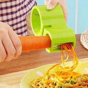 Многофункциональные спиральности Двуглавый Терка с точилкой 2 В 1 Растительной Терке Спираль Овощечистки резак инструмент кухни Gadget DBC VT1773