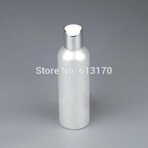 Бесплатная доставка 200ML Пустые бутылки Пресс Cap Silver Pearl White Lid 200cc ПЭТ шампунь лосьон бутылка Косметические контейнеры для упаковки
