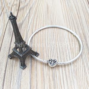 Аутентичные 925 стерлингового серебра семьи Сердце Змея цепь браслет Подходит для европейского PANDONA Стиль ювелирных изделий шармов 598827C01