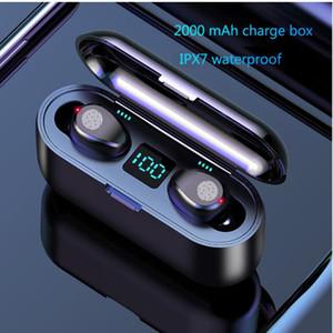 New F9 Wireless Headphones Bluetooth 5.0 Earphone TWS HIFI Mini In-ear Sports Running Headset HD Call