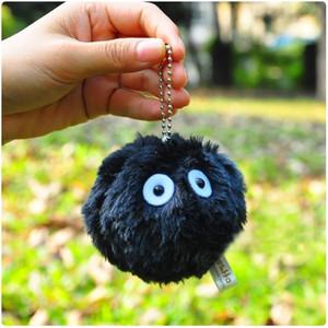 Hayao Miyazaki Komşum Totoro Fairydust Peluş Bebek Oyuncak Ruhların Kaçışı Siyah Toz Elf kolye Peluş Oyuncak Halkalı